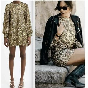 ♥️♥️ZARA SHORT SEQUIN DRESS